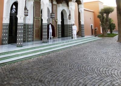 Porphyry cubes overlapping arcs- Marrakech Marocco