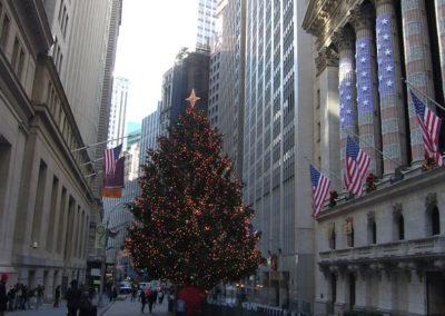 Pavé en porphyre tête carré Wall Street NY