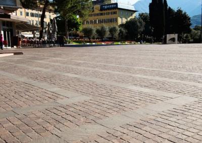 Porphyry cubes square head -  Riva del Garda, Italy