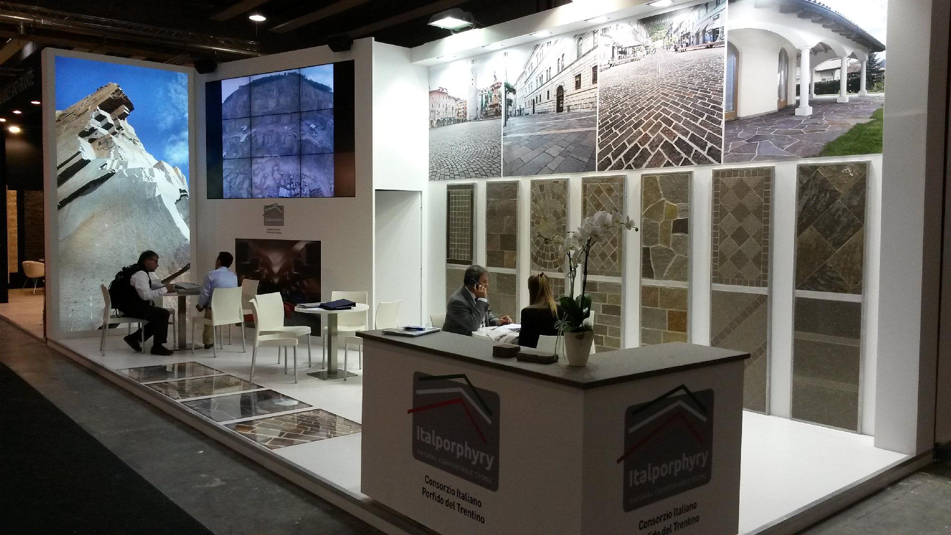 International Exhibition Stand Design : Marmomacc fair the international stone exhibition