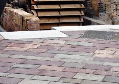 Porphyry tiles sawn edges - Hagenau France