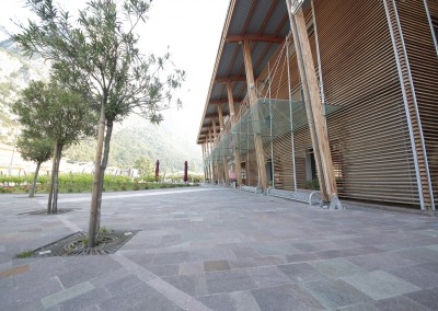 Porphyry tiles sawn edges -private factory Trento Italy