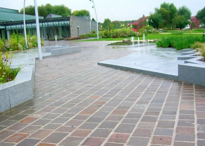 Tiles split edges porphyry natural surface   - Hagenau France