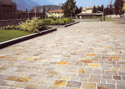 Split edges porphyry natural surface tiles  - private property