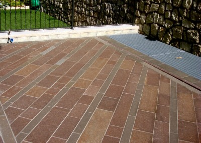 Porphyry flamed tiles free length  grey-red colours