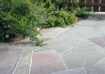 Irregular slabs large sawn edges