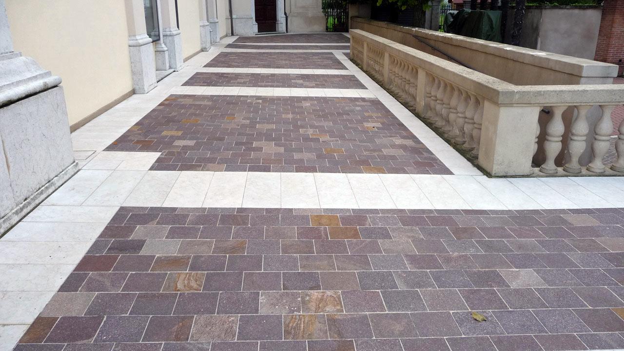 Piastrelle in porfido per interni ed esterni - Rimuovere cemento da piastrelle ...