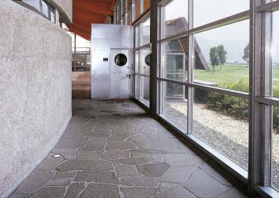 Porphyr unregelmässige Platten großformat - privat Keller Italien