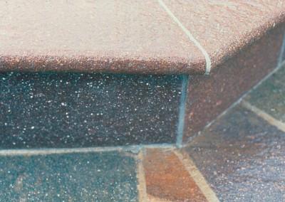 Porphyry risers natural surface