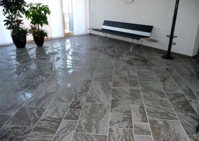 Porphyry tiles semi-polished