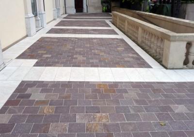 Porphyry tiles sawn egdes fixed length violet colour