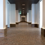 Artisans Association office in Trento - interior porphyry pavement