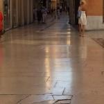 Marmo usurato da calpestio -  Verona