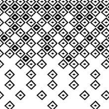 Rappresentazione grafica stilizzata della texture Arlecchino in bianco e nero