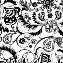 Rappresentazione grafica stilizzata della texture Rapsodia in bianco e nero