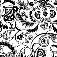 Black and white Stylized graphical representation of texture Rapsodia