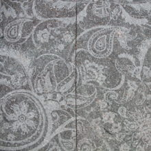 Texture Rapsodia realized on natural surface poprphyry