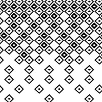 Stylised graphic representation of the Arlecchino texture in black and white