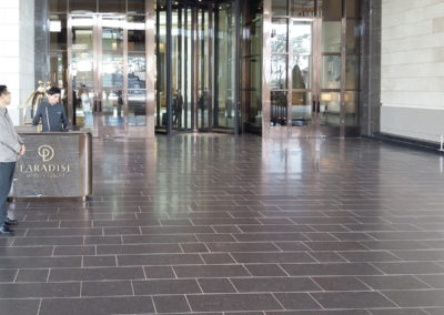 Hotel South Korea with italian porphyry  brushed surface