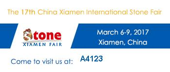 Xiamen Stone Fair our booth A4123 Hall 4