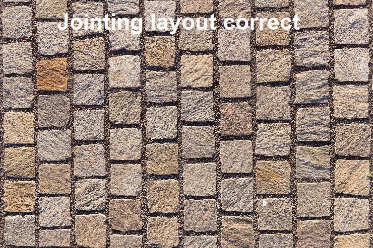 Jointing layout correct
