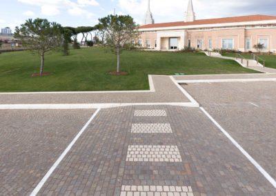 Roma dettaglio pavimentazione con sigillatura in resina poliuretanica