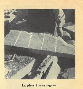 Lavorazione manuale cubetti porfido