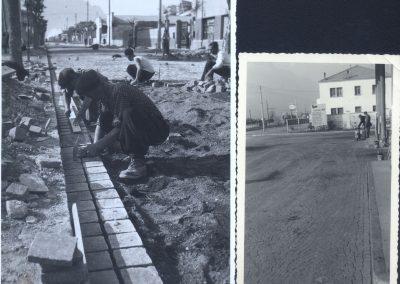 Pavimentazione via Brennero - Trento 1948